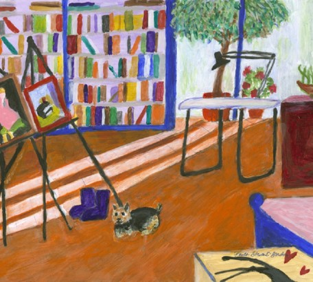 Artist's Studio with Purple Boots and Katie,