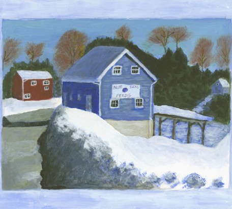Blue & Red Barns in Roxbury, CT #2,