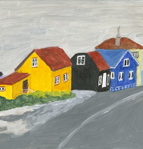 GRENEVIC, ICELAND #2, acrylic on gesso board, 11