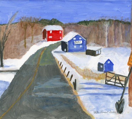 Blue & Red Barns in Roxbury, CT #3,