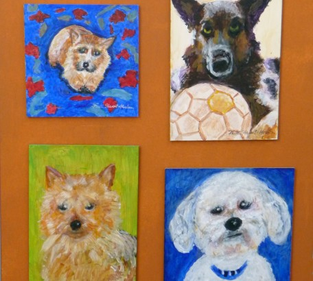 COLLAGE #2 - DOGS I HAVE KNOWN: Little Mac, Sabra with her Best Friend, Rose, Beau