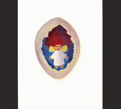 Elspeth the Troll Fairy Emerging From an Egg,